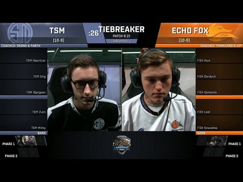 TSM vs FOX | Tiebreakers - NA LCS Summer 2018 | Team SoloMid vs Echo Fox