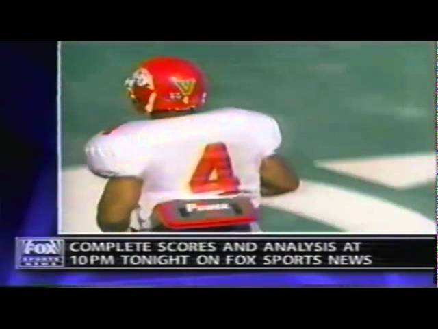 Oregon safety Jaiya Figueras gets steamrolled by a Fresno State RB 9-20-1997