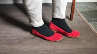 "Handmade Organic Cannabis Hemp Ballet Flats Shoes ""Giselle"" by Rawganique.co"
