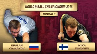 Ruslan Chinahov - Mika Immonen | World 9-Ball Championship 2018