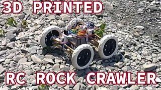 3D Printed RC Rock Crawler Test Drive