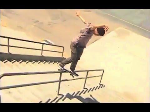 Backside Smith Grind Down Crusty 17 Stair Rail!?!! - WTF! -  Alex Willms