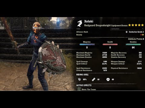 Stam DK Stat Showcase PVP - Horns of the Reach PTS.