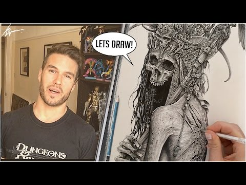 DARK ART TIME LAPSE :  Process and tools