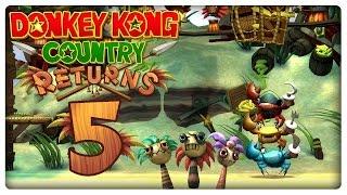 Let's Play DONKEY KONG COUNTRY RETURNS Part 5: Wal-Fahrt, Tsunami & aggressives Krebs-Trio