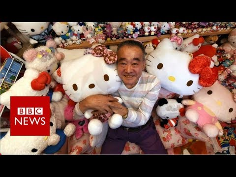 Retired police officer is Hello Kitty's biggest fan - BBC News