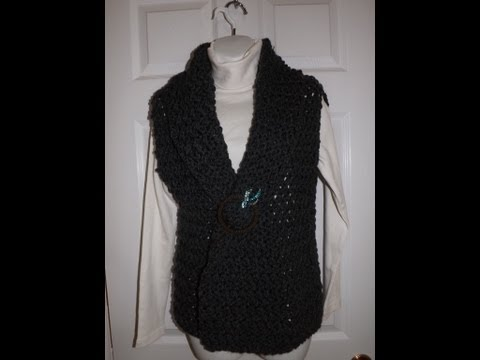 Crochet Cardigan Or Vest