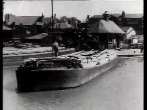 Barging Along - WW II film promoting  Britains inland waterw...
