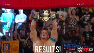 WWE Payback 2015 John Cena vs Rusev I Quit Match United States Championship Result!