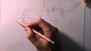 How to draw Howl and Sophie from Howl's Moving Castle