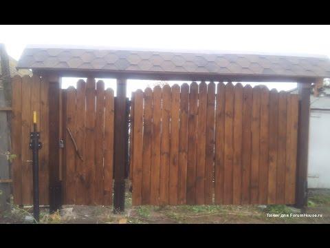 Реставрация старых ворот на даче своими руками