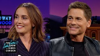 Leighton Meester & Rob Lowe Are Ready to Teach James Surfing
