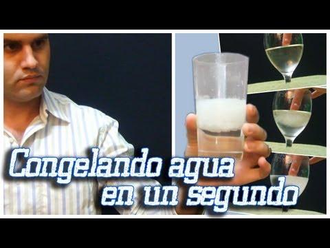 Como congelar agua en un segundo (Hielo instantáneo) Explicado paso a paso