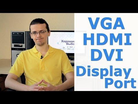 Всё про VGA. HDMI. DVI и Display Port