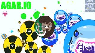 AGAR.IO SHARK Attack | CLAN TAG I WILL KILL ..!