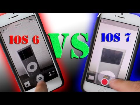 iOS 6 VS iOS 7 Hands On Comparison Using The iPhone 5