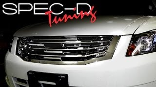 SPECDTUNING INSTALLATION VIDEO: 2008 AND UP HONDA ACCORD  FRONT GRILLE