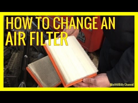 How to change the AIR FILTER on a Buick LaCrosse and other GM cars