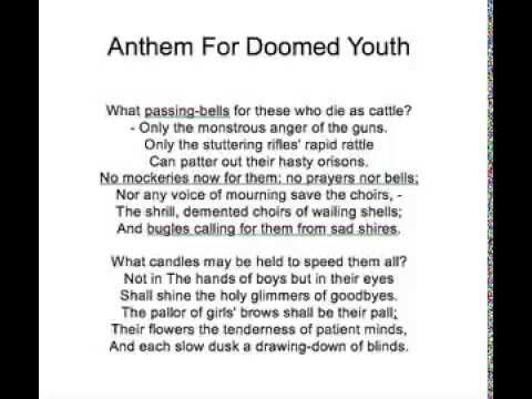 anthem for doomed youth analysis line by line