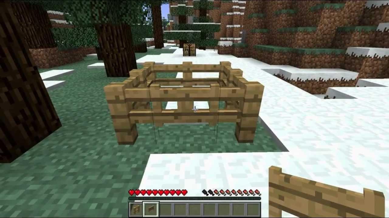 Comment faire une barriere en bois sur minecraft - Comment faire une belle chambre minecraft ...