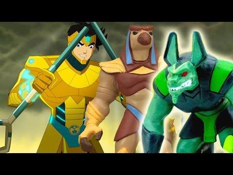 Игры для мальчиков. ЕГИПТУС - герои из мультика! Супер коллекция фигурок непобедимых воинов пирамид.