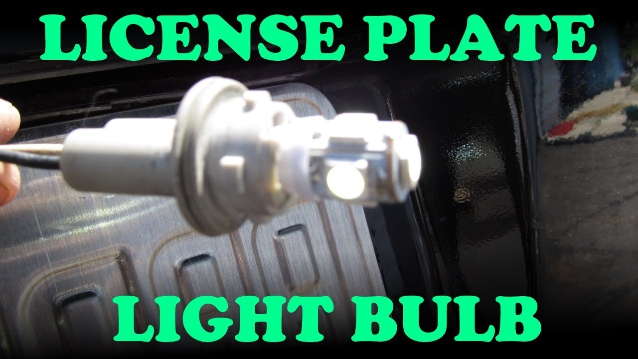 Toyota License Plate Light Change YouTube