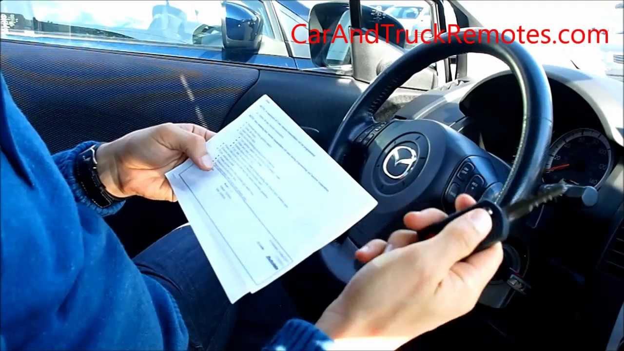 Mazda remote keyless entry key DIY programming, keyfob ...
