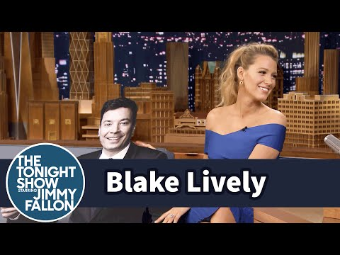 Jimmy Gives Blake Lively a Life-Size Cutout of Himself