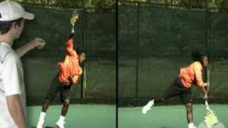Tennis Serve: Kick Serve Step 4 - Follow Through
