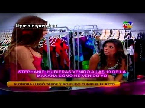 COMBATE: Alondra Llega Tarde Al Reto Con Stephanie Valenzuela 03/03/14