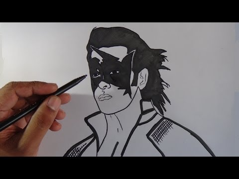 How To Draw Super Hero Krish - Hrithik Roshan video