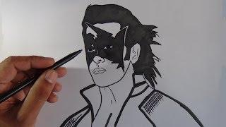 How to draw super hero Krish - Hrithik Roshan