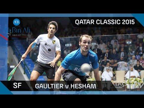Squash: Qatar Classic 2015 - Men's SF Highlights: Gaultier v Hesham