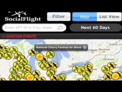 SocialFlight App - Air shows, fly-in