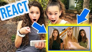"Sierra & Olivia REACT to ""SNEAK OUT"" by Davis Sisters"