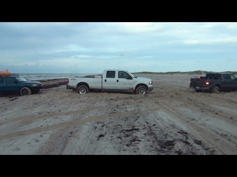 Nissan Frontier SuperCharged 4X4 vs Ford F150 & F250 4X4 In Tandem!!!