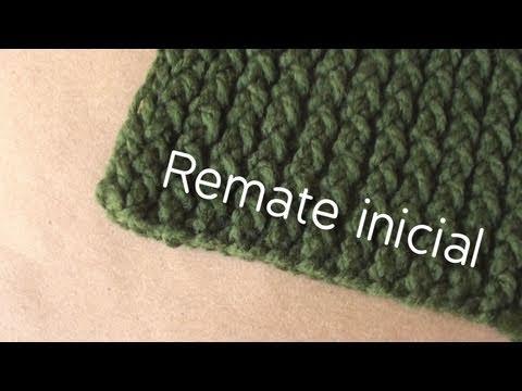 Remate inicial // Bufanda en telar