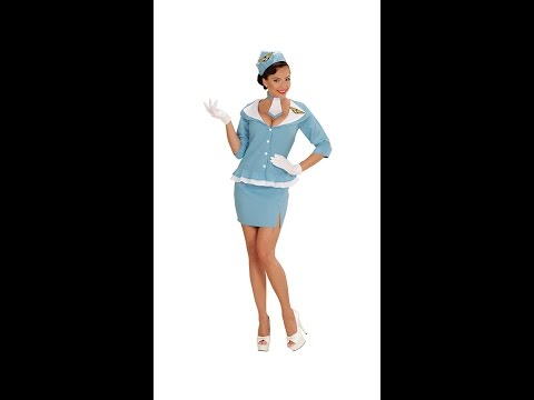 0663 - RETRO FLIGHT ATTENDANT (jacket skirt tie hat)