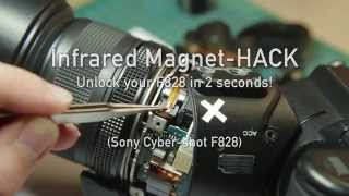 Sony Cybershot F828 Magnet Infrared Hack in 2 seconds!