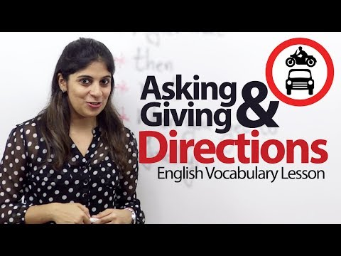 Asking & Giving directions in English - English Vocabulary Lesson (ESL)