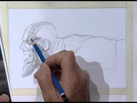 How to draw Kratos, god of war 2 / Kratos, Dios de la guerra 2