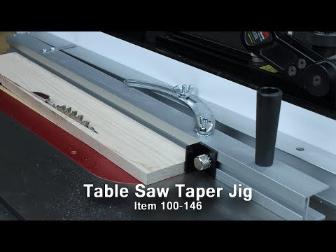 Easily Make Tapered Cuts At The Table Saw with Our Simple Jig
