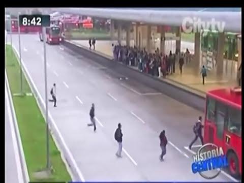 ATROPELLADA, POR TRANSMILENIO.