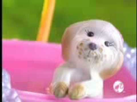 2009 º Barbie clean-up pup! commercial doll