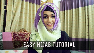 Easy Hijab Style for Summer Party with Gown | Pari ZaaD