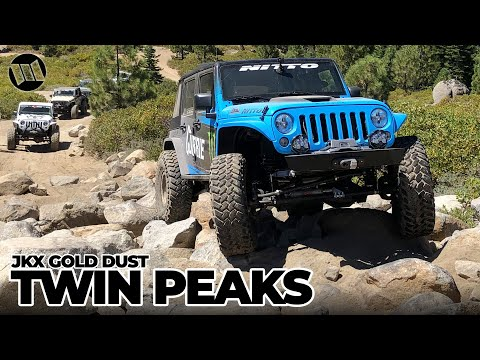 JK Experience GOLD DUST: TWIN PEAKS Jeep Wrangler Off Road Rock Crawling Adventure NITTO JKX Part 3