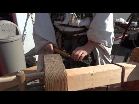 19th Annual Scottish Festival & Games -Hand Powered Bow Lathe