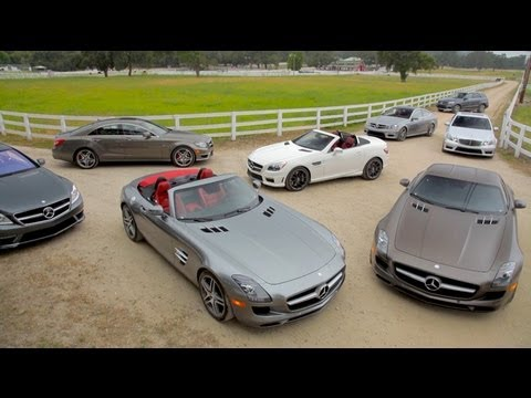2012 Mercedes-Benz AMG Lineup - SLS, C63 & More! - Wide Open Throttle Episode 20