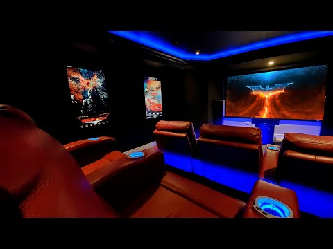 Basement Home Theater / Game Room / Man Cave / Arcade / Video Game - 7.2.4 (old setup)