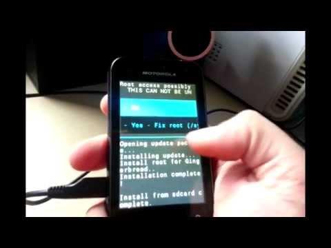 Root Motorola Mini Defy XT320 HD y Comentado